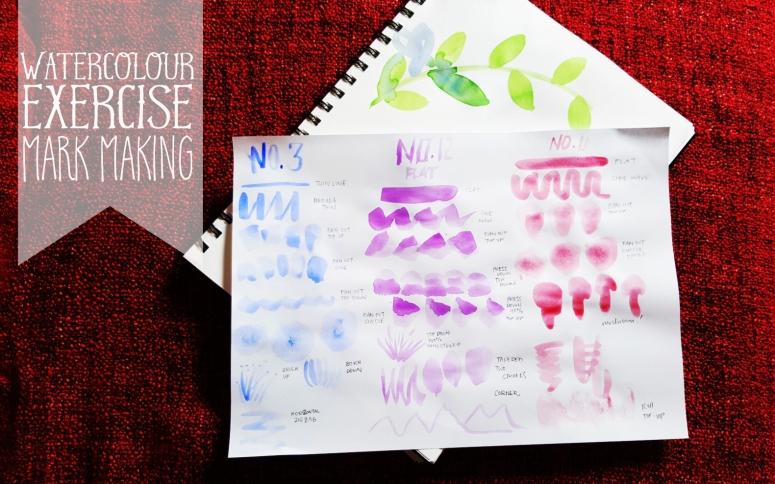HW-watercolor mark making