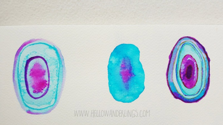 Watercolor Agate Slices DIY Project Hello Wanderlings