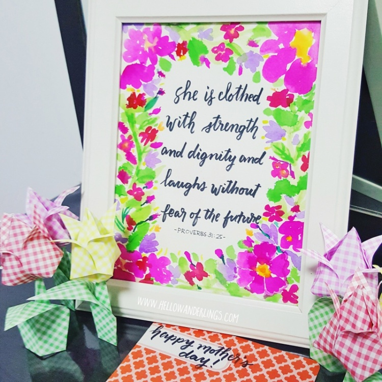 Mother's Day DIY Project Garden Brush Calligraphy