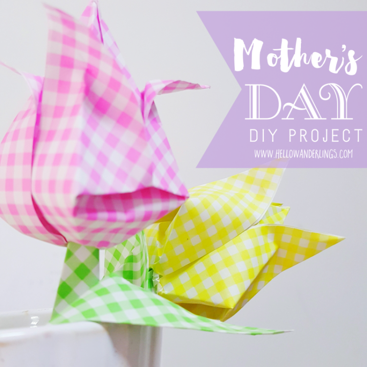 Mother's Day DIY Project Tulip Origami