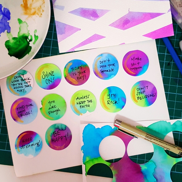 Inspirational Watercolor Tags DIY Hello Wanderlings