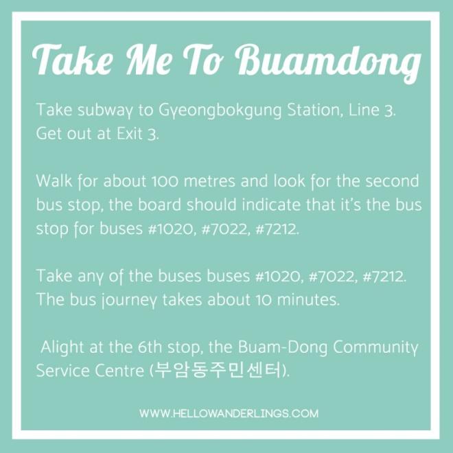 Buamdong Directions