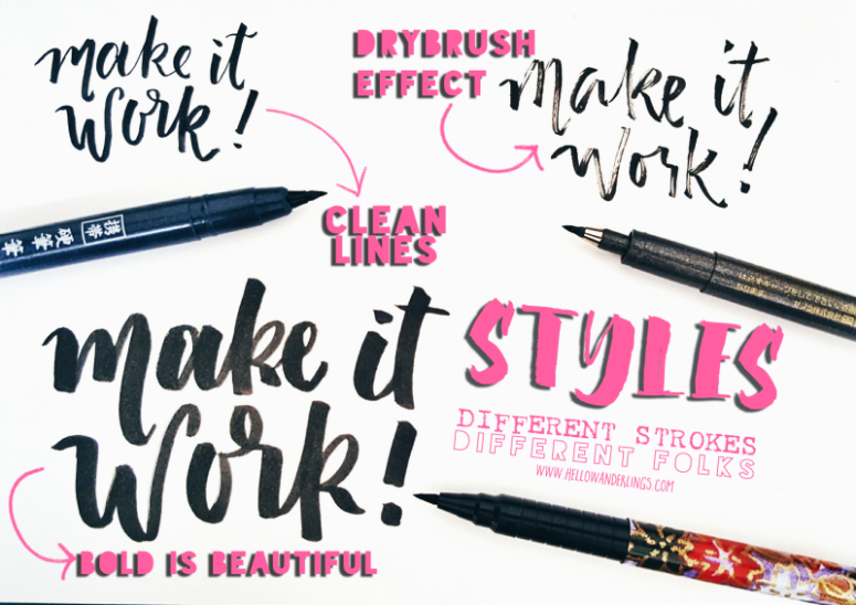 Daiso Brush Pens Style