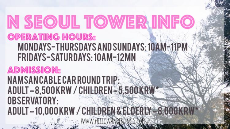 N Seoul Tower Info
