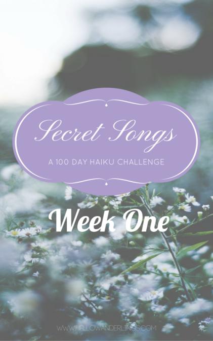 Secret Songs-blog WEEK ONE