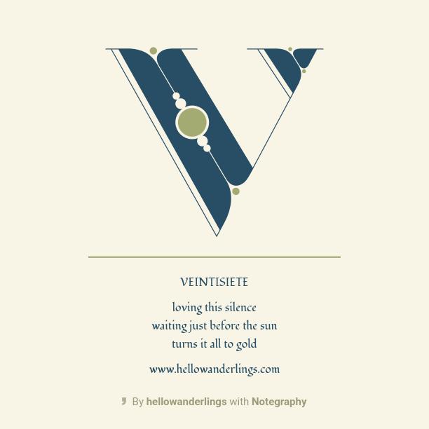 The 100 Day Project Veintisiete